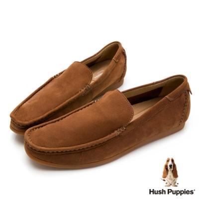 Hush Puppies 紳士皮革樂福男鞋-棕色