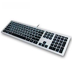 B.FRIEND KB460 剪刀腳發光薄型有線鍵盤(WI
