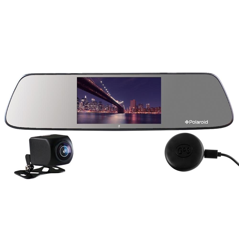 Polaroid 寶麗萊 DE501GS+GC2 夜視 雙鏡頭 GPS後視鏡行車記錄器-快