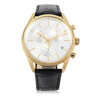 CalvinKlein Formality 都會紳士計時腕錶-43mm