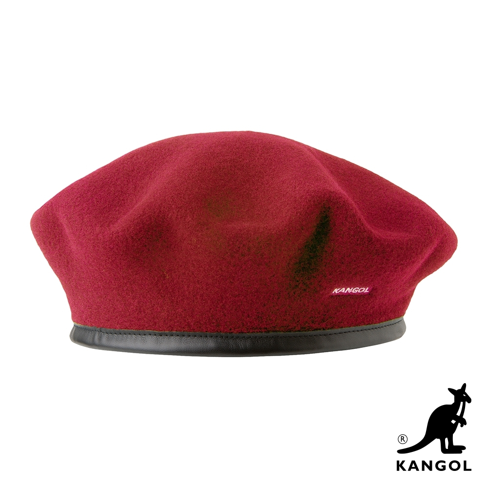 KANGOL-WOOL MONTY貝蕾帽-紅色