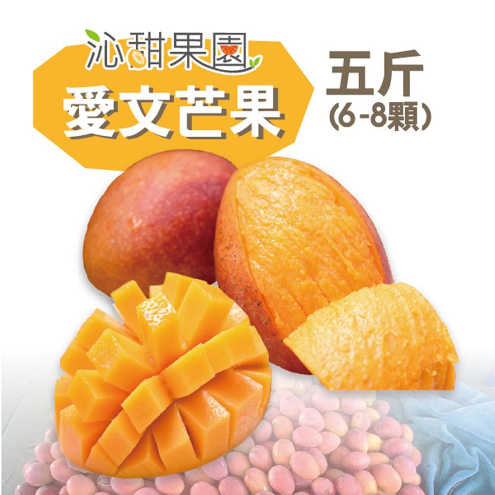沁甜果園SSN 屏東枋山愛文芒果(6-8粒裝/5台斤)