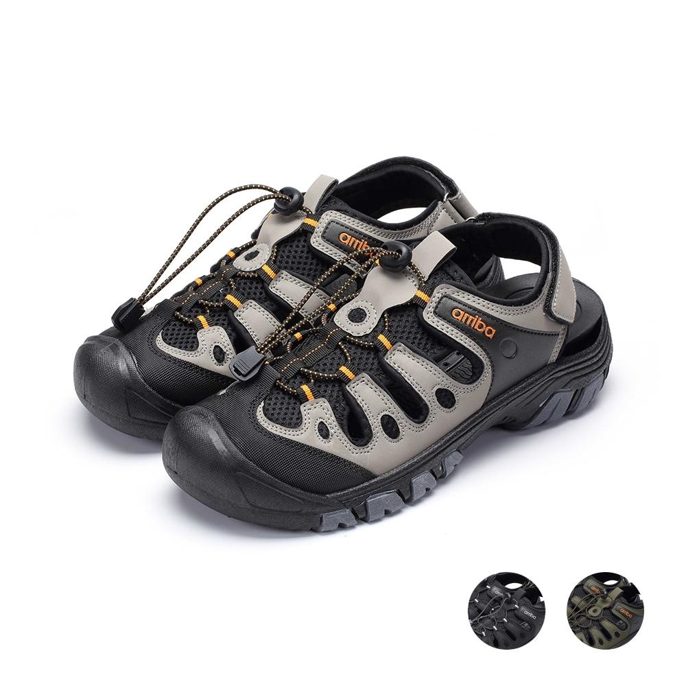 ARRIBA艾樂跑男鞋-戶外運動涼鞋-黑灰/黑綠/黑(61507)