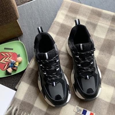 韓國KW美鞋館 輕漾甜美時尚街頭老爹鞋-黑