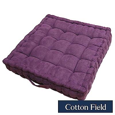 棉花田 亞瑟 仿麂皮立體胖胖坐墊-紫色(二件組)