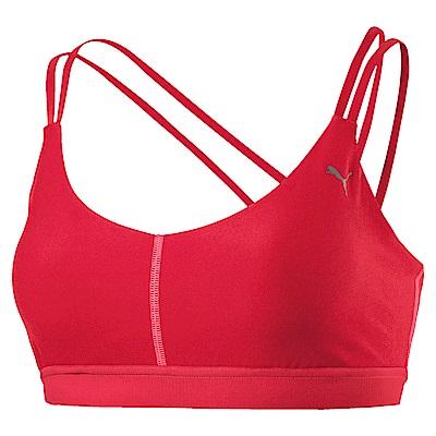 PUMA-女性訓練系列低衝擊美背運動內衣-蜜桃紅-歐規