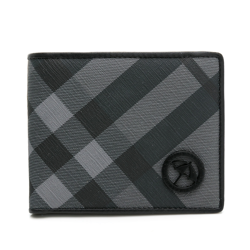 Arnold Palmer - 短夾-壓扣零錢袋 Noble系列 - 灰色