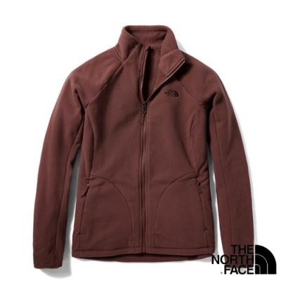 The North Face 女新款 FASTER HIKE TKA 200 輕柔刷毛抓絨保暖外套_豆沙紅 N