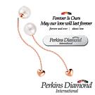 PERKINS 伯金仕 - 日本Akoya 18K玫瑰金 7.5mm 珍珠垂吊耳環