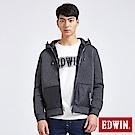 EDWIN 太空競賽 太空棉連帽休閒外套-男-黑灰色