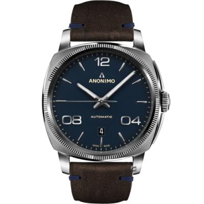 Anonimo EPURATO義式經典機械腕錶-寧靜藍/42mm
