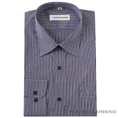 ROBERTA諾貝達 台灣製 商務紳士  條紋長袖襯衫  紫色