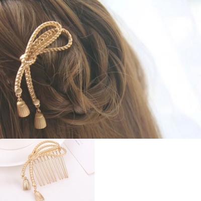 Hera 赫拉 甜美流蘇繩結金屬髮插/髮簪-2色