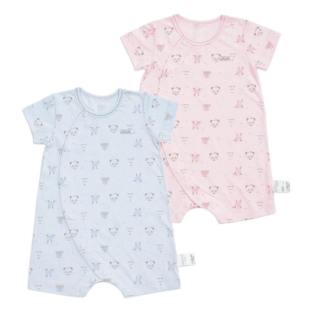 奇哥 動物派對短袖兔裝/連身衣-天絲棉 3-18個月 (2色選擇) product image 1