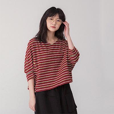 MOSS CLUB造型袖條紋-上衣(共三色)
