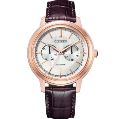 CITIZEN GENTS系列 城市英雄光動能時尚皮帶腕錶(BU4032-11A)