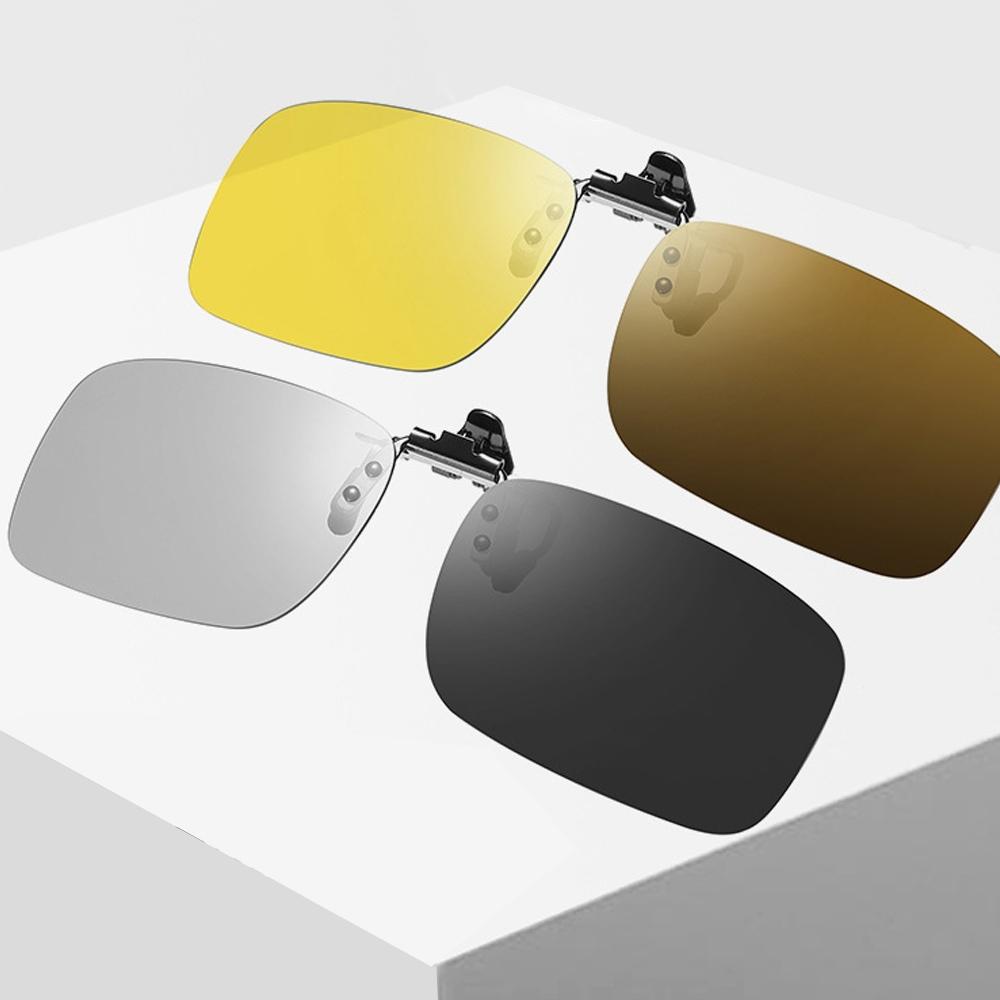 日夜兩用智能變色可掀眼鏡夾片