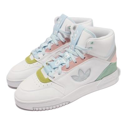adidas 休閒鞋 Drop Step XLT W 女鞋 愛迪達 三葉草LOGO 高筒 白 藍 GZ2794