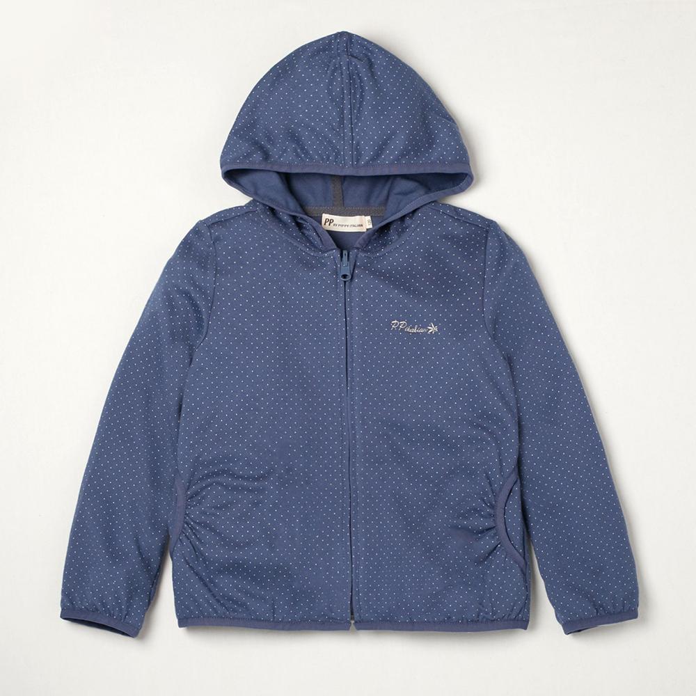 PIPPY 吸濕排汗點點外套 藍