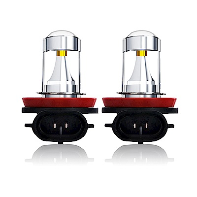 【車的LED】勁亮H8 6LED 魚眼燈30w(白光-雙入)