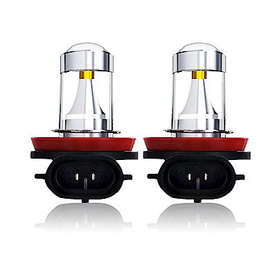 【車的LED】勁亮H8 6LED 魚眼燈30w白光(兩入組)