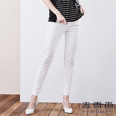 【麥雪爾】棉質彈力修身長褲