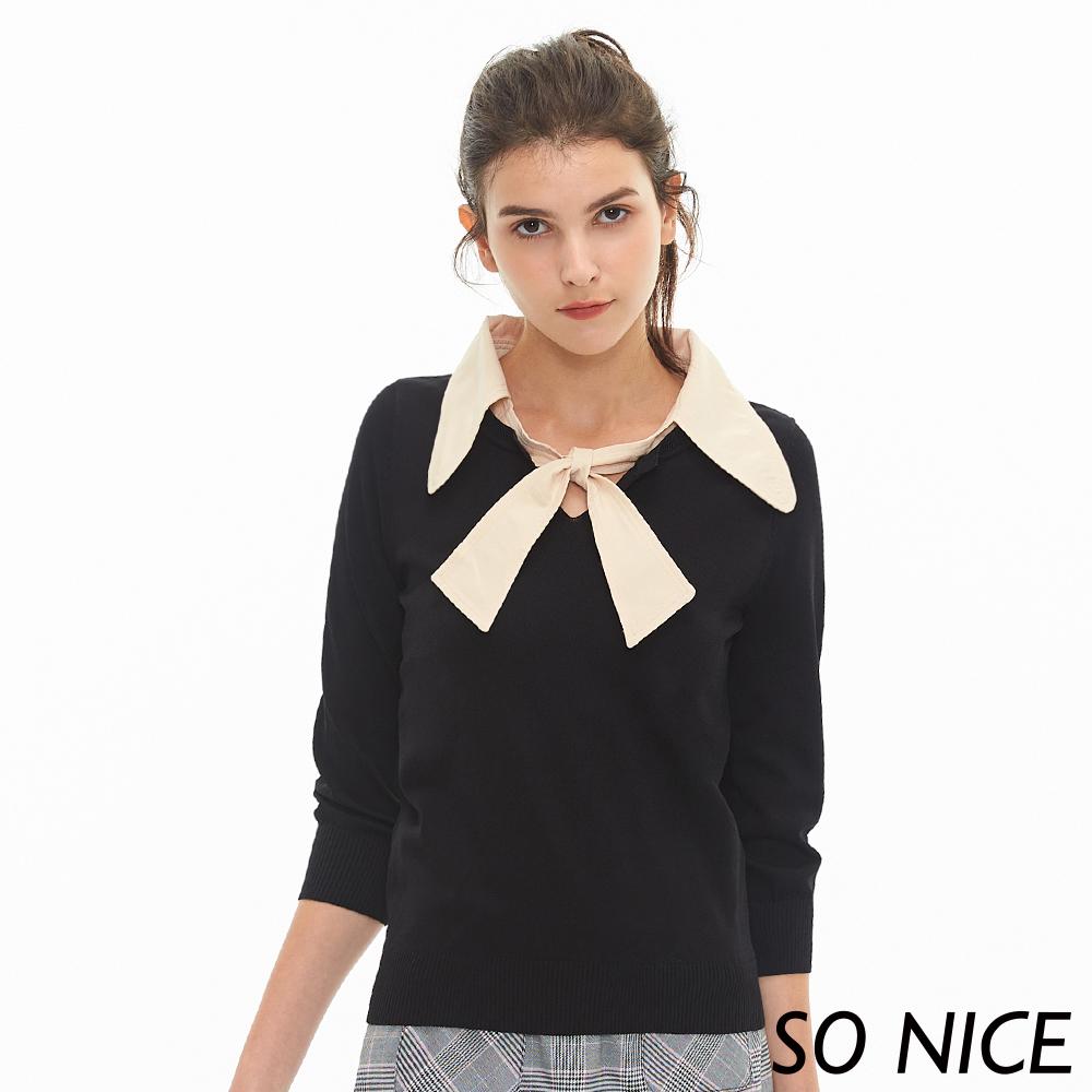 SO NICE2Way造型綁結針織上衣