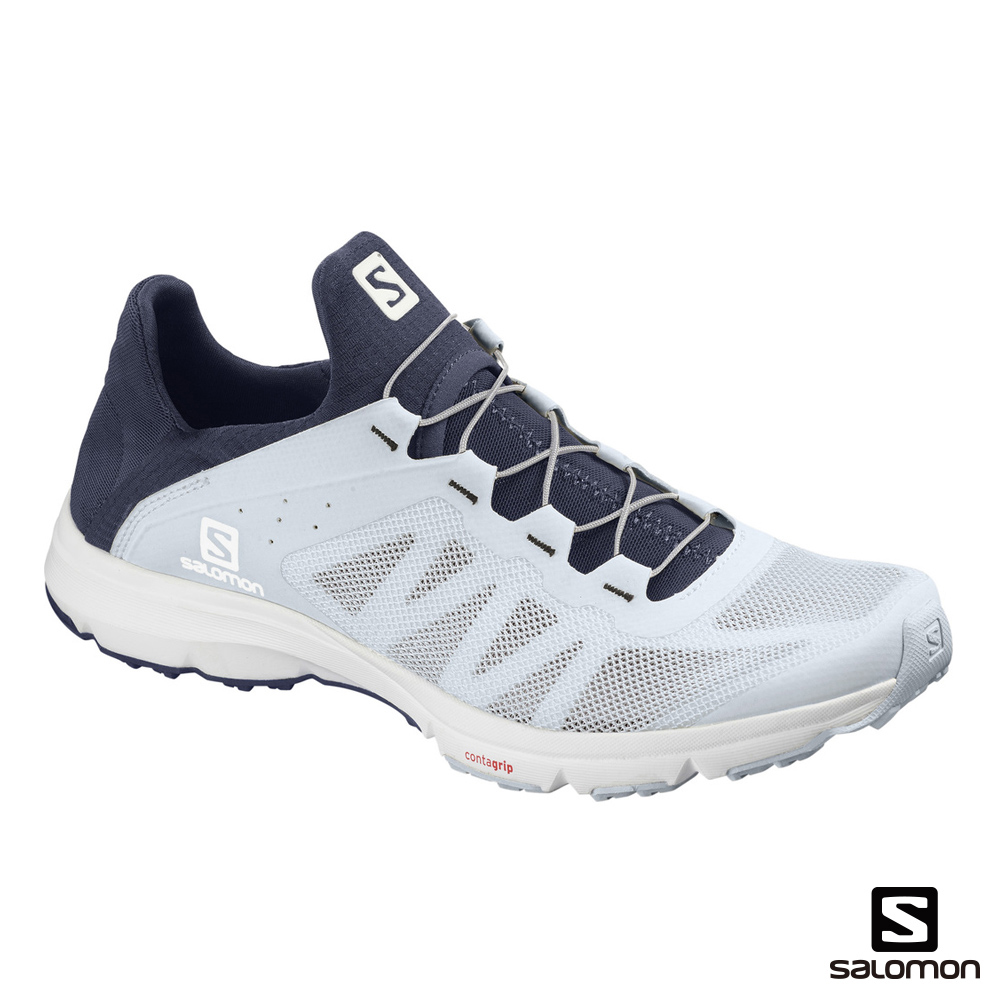 Salomon 女 AMPHIB BOLD 多功能水陸鞋 幻影藍/皇冠藍/白