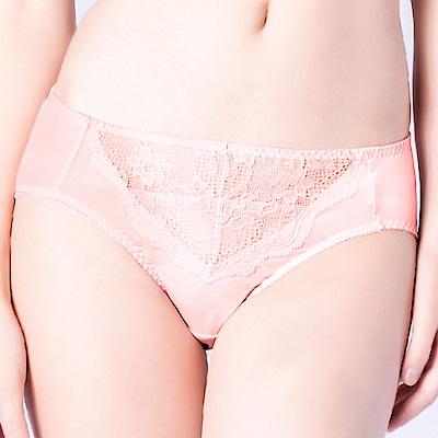 思薇爾 輕戀香系列M-XXL蕾絲中腰三角內褲(荷花膚)