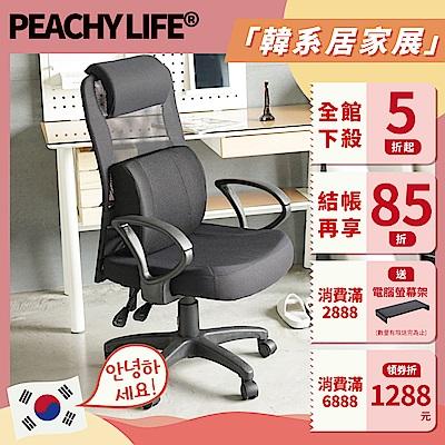 完美主義 高背頭靠D扶手電腦椅/辦公椅/附加大腰枕(6色)