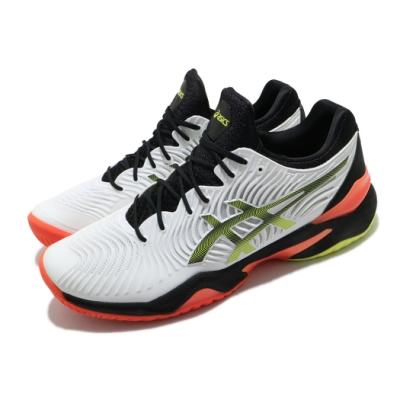 Asics 網球鞋 Court FF 2 運動 襪套式 男鞋 亞瑟士 球王共同開發 包覆 穩定 白 黃 1041A083100