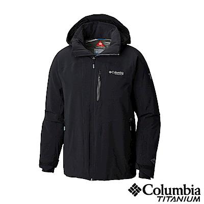 Columbia哥倫比亞 男款-鈦Omni-HEAT 保暖防水外套-黑色