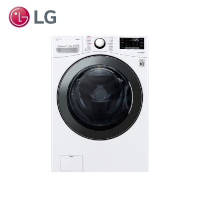 LG樂金 17公斤 蒸洗脫烘 滾筒洗衣機 WD-S17VBD 冰磁白
