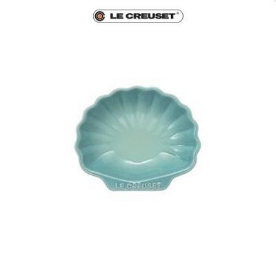 [任4件6折] LE CREUSET 瓷器貝殼盤(小)(薄荷綠)
