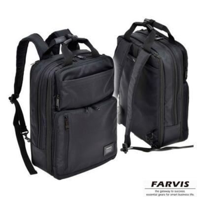 【FARVIS】日本機能 2WAY 輕量 商務後背包 電腦後背包