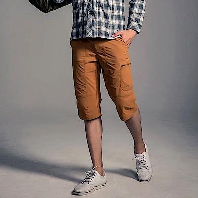 GFun 男款7分彈性褲 - 香料褐(G5URPM2-BROWN)