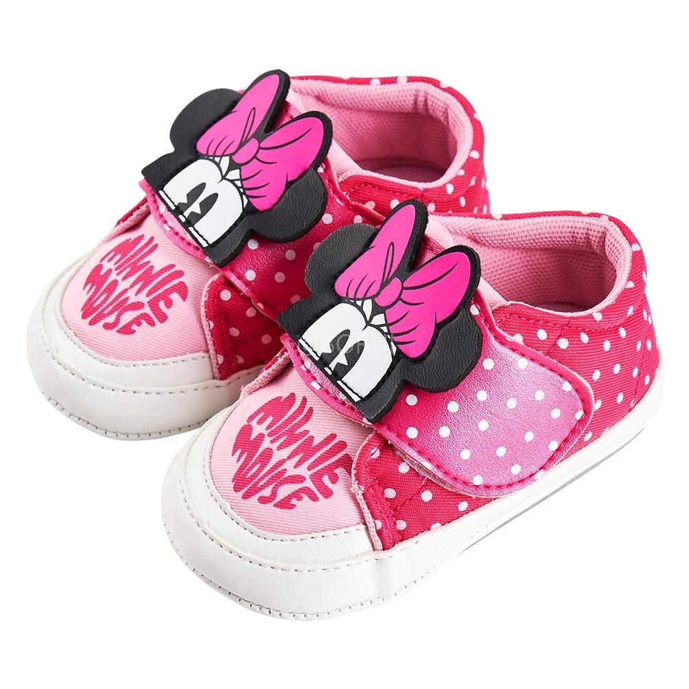 迪士尼童鞋 米妮 點點造型學步鞋-粉(柏睿鞋業)