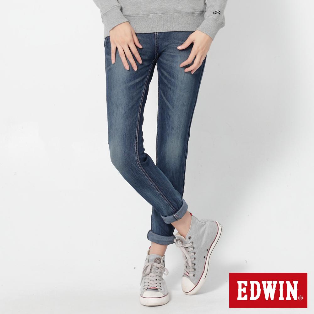 EDWIN 迦績褲JERSEYS立體剪裁牛仔褲-女-拔洗藍