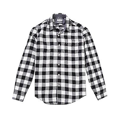 Timberland 男款棉質亞麻長袖襯衫|A1LWQ