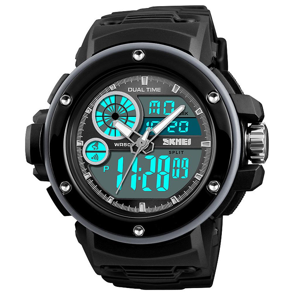 SKMEI 時刻美1341-雙機芯多功能防震防水電子錶(3色任選)