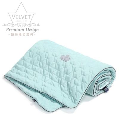 La Millou Velvet頂級棉柔系列-標準款暖膚毯80x100cm(舒柔粉綠)