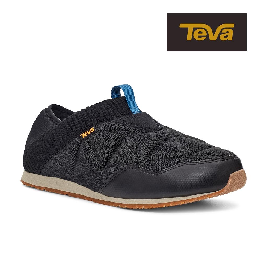 【TEVA】原廠貨 男 ReEmber 兩穿式防潑水菠蘿麵包鞋/休閒鞋/懶人鞋(黑色/灰褐色-TV1125472BPZT)
