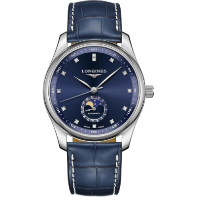 LONGINES 浪琴 Master 巨擘系列月相真鑽機械錶-40mm L29094970