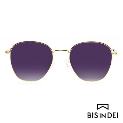 BIS IN DEI 簡約中性金屬框太陽眼鏡-紫