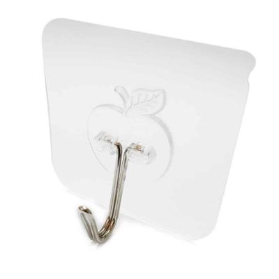 (10入)免釘免打孔 無痕貼 透明蘋果造型掛勾 無痕掛勾 強力掛勾