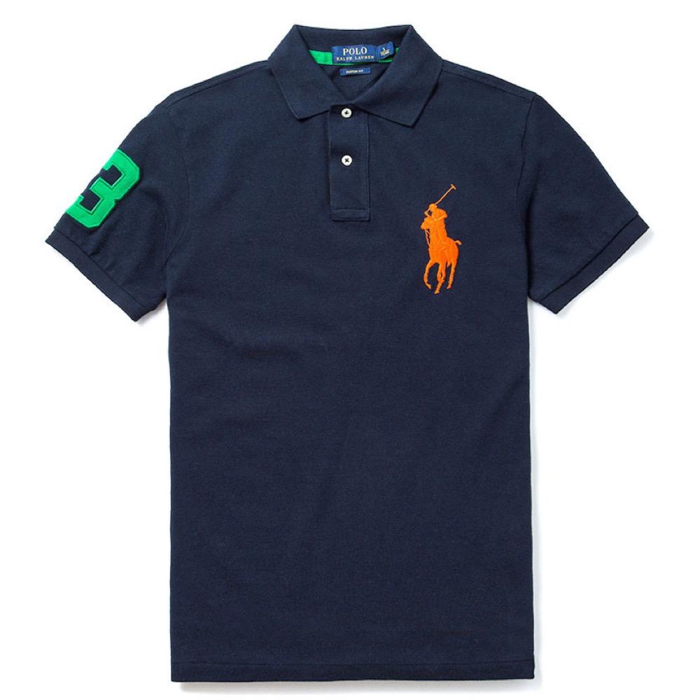 Polo Ralph Lauren 經典電繡大馬Polo衫(Custom)-深藍色