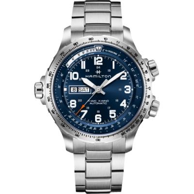 Hamilton 漢米爾頓 KHAKI X-Wind 航空機械錶-藍/45mm H77765141