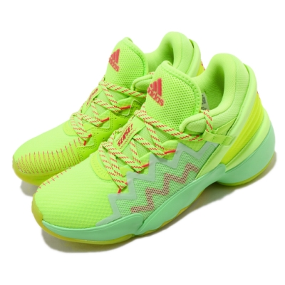 adidas 籃球鞋 DON Issue 2 GCA 男鞋 愛迪達 運動 緩震 透氣 NBA球星 綠 橘 FW9035