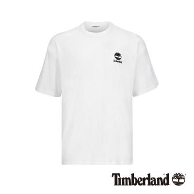 Timberland 男款白色背後美式大印花寬鬆短袖T恤|A1YKG