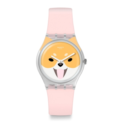 Swatch  I love your folk系列手錶 AKITA INU俏皮秋田犬